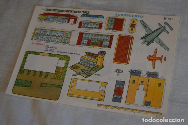 VINTAGE - LIBRITO CON 10 LÁMINAS DE CONSTRUCCIONES RECORTABLES BOGA - 10 CONSECUTIVAS - ENVÍO 24H (Coleccionismo - Recortables - Construcciones)