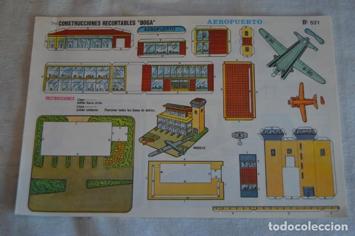 Coleccionismo Recortables: Vintage - LIBRITO CON 10 LÁMINAS DE CONSTRUCCIONES RECORTABLES BOGA - 10 CONSECUTIVAS - ENVÍO 24H - Foto 2 - 139205598