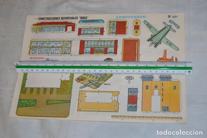 Coleccionismo Recortables: Vintage - LIBRITO CON 10 LÁMINAS DE CONSTRUCCIONES RECORTABLES BOGA - 10 CONSECUTIVAS - ENVÍO 24H - Foto 3 - 139205598