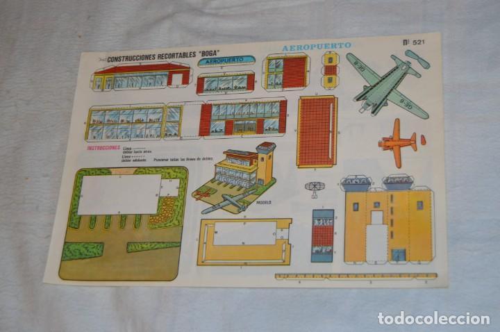 Coleccionismo Recortables: Vintage - LIBRITO CON 10 LÁMINAS DE CONSTRUCCIONES RECORTABLES BOGA - 10 CONSECUTIVAS - ENVÍO 24H - Foto 4 - 139205598