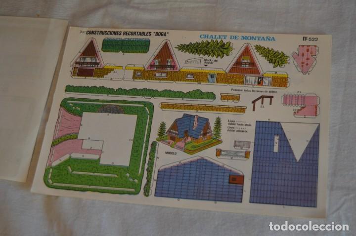 Coleccionismo Recortables: Vintage - LIBRITO CON 10 LÁMINAS DE CONSTRUCCIONES RECORTABLES BOGA - 10 CONSECUTIVAS - ENVÍO 24H - Foto 6 - 139205598