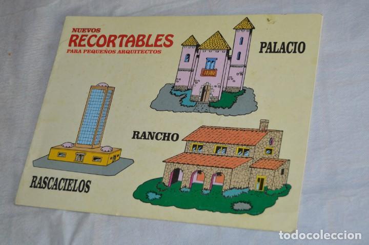 VINTAGE - LIBRITO RECORTABLES DE CONSTRUCCIÓN - RASCACIELOS, RANCH Y PALACIO - VILMAR - ¡MIRA! (Coleccionismo - Recortables - Construcciones)