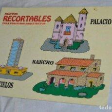 Coleccionismo Recortables: VINTAGE - LIBRITO RECORTABLES DE CONSTRUCCIÓN - RASCACIELOS, RANCH Y PALACIO - VILMAR - ENVÍO 24H. Lote 139206118