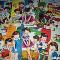 Coleccionismo Recortables: 8 CUADERNOS ARQUITECTURA INFANTIL LA TIJERA 1962, SABATES COLECCION COMPLETA. Lote 139386166