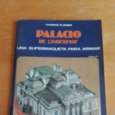 Coleccionismo Recortables: RECORTABLE EDAF PALACIO LINDERHOF AÑOS 90. Lote 139777980
