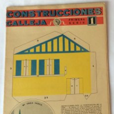 Coleccionismo Recortables: RECORTABLE CONSTRUCCIONES CALLEJA. PRIMERA SERIE, NÚMERO 1. MI CASA VASCA.. Lote 139961738