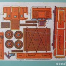 Coleccionismo Recortables: RECORTABLES CEREGUMIL. CONSTRUCCIONES. Nº 81. CAMIÓN. 22 X 15 CM. Lote 141554290