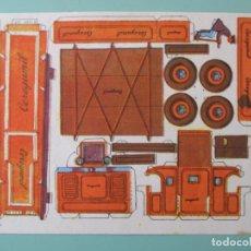 Coleccionismo Recortables: RECORTABLES CEREGUMIL. CONSTRUCCIONES. Nº 81. CAMIÓN. 22 X 15 CM. Lote 141554302