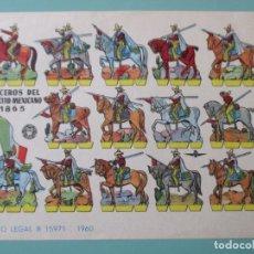 Coleccionismo Recortables: RECORTABLES 1960. LANCEROS DEL EJÉRCITO MEXICANO 1865. 17 X 12 CM. Lote 141554446