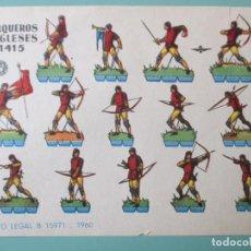 Coleccionismo Recortables: RECORTABLES 1960. ARQUEROS INGLESES 1415. 17 X 12 CM. Lote 141554530