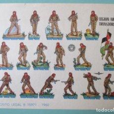 Coleccionismo Recortables: RECORTABLES 1960. LEGIÓN ÁRABE TRANSJORDANA. 17 X 12 CM. Lote 141554562