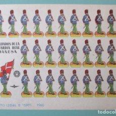 Coleccionismo Recortables: RECORTABLES 1960. SOLDADOS DE LA GUARDIA REAL DANESA. 17 X 12 CM. Lote 141554602