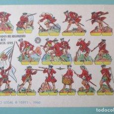 Coleccionismo Recortables: RECORTABLES 1960. SOLDADOS DEL REGIMIENTO DEL REY FRANCIA 1743. 17 X 12 CM. Lote 141554658