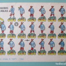 Coleccionismo Recortables: RECORTABLES 1960. FUSILEROS GURKAS. 17 X 12 CM. Lote 141554726