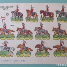 Coleccionismo Recortables: RECORTABLES 1960. DRAGONES INGLESES 1837. 17 X 12 CM. Lote 141554750
