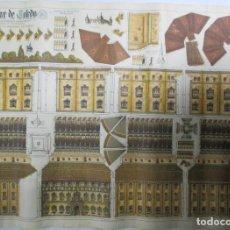 Coleccionismo Recortables: RECORTABLE DEL ALCÁZAR DE TOLEDO. J. GALVEZ. GRANADA. VIVA FRANCO. VIVA ESPAÑA. 69 X 50 CM. Lote 141645754
