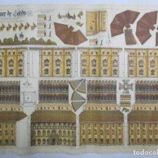 Coleccionismo Recortables: RECORTABLE DEL ALCÁZAR DE TOLEDO. J. GALVEZ. GRANADA. VIVA FRANCO. VIVA ESPAÑA. 69 X 50 CM. Lote 141645942