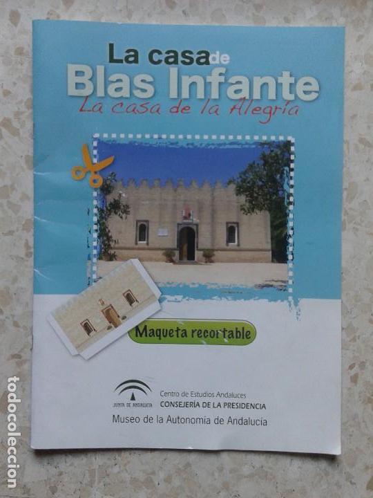 RECORTABLE LA CASA DE BLAS INFANTE (Coleccionismo - Recortables - Construcciones)