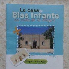 Coleccionismo Recortables: RECORTABLE LA CASA DE BLAS INFANTE. Lote 153048834