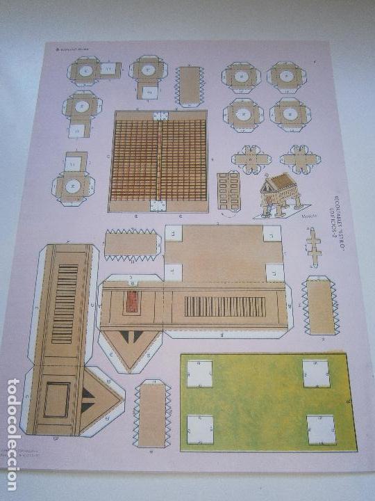 LÁMINA ORIGINAL DE RECORTABLES 'ESTILO' - SERIE EDIFICIOS 2 - EDITORIAL ROMA - AÑOS 80 (Coleccionismo - Recortables - Construcciones)