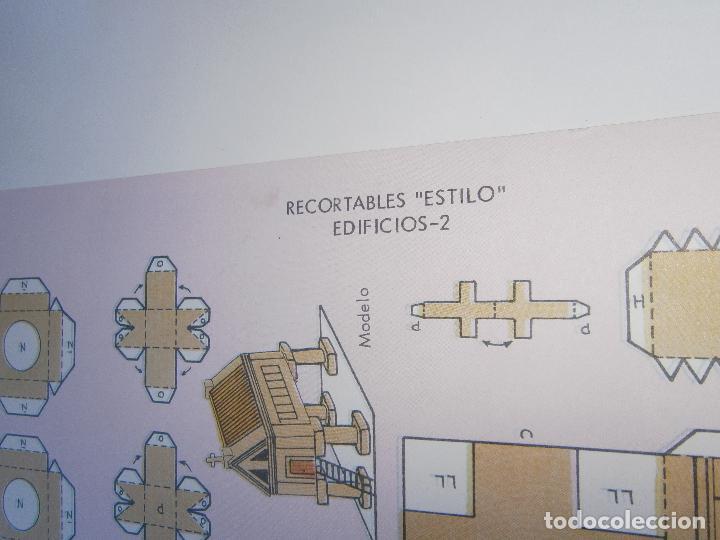 Coleccionismo Recortables: LÁMINA ORIGINAL DE RECORTABLES ESTILO - SERIE Edificios 2 - EDITORIAL ROMA - AÑOS 80 - Foto 2 - 146140966