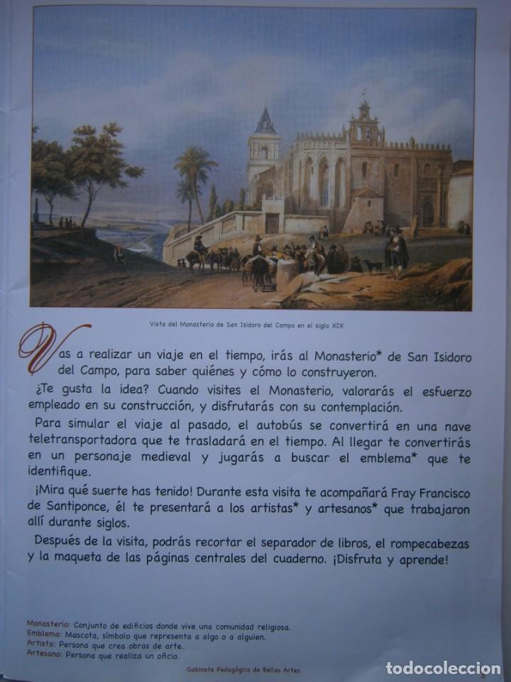 Coleccionismo Recortables: MONASTERIO DE SAN ISIDRO DEL CAMPO CUADERNO DEL ALUMNADO PRIMARIA 2005 - Foto 7 - 146240930