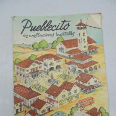 Coleccionismo Recortables: LIBRO CON LAMINAS RECORTABLES SERIE PUEBLECITO EDICIONES LA TIJERA. Lote 156835126