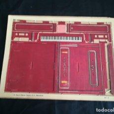 Coleccionismo Recortables: CONSTRUCTOR SEIX & BARRAL EL PIANO. Lote 146800290