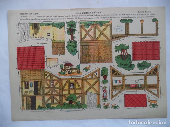 LA TIJERA SERIE 10 CASA RUSTICA GALLEGA Nº2 (Coleccionismo - Recortables - Construcciones)