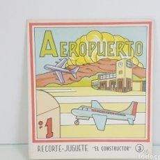 Coleccionismo Recortables: RECORTES JUGUETE EL CONSULTOR AEROPUERTO NÚMERO 3 EDICIÓN ROMA BARCELONA. Lote 147170309