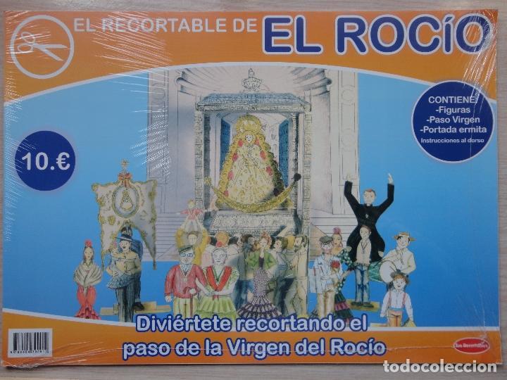 CUADERNO RECORTABLE.EL PASO DE LA VIRGEN DEL ROCIO. (Coleccionismo - Recortables - Construcciones)