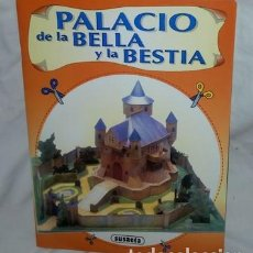 Coleccionismo Recortables: RECORTABLE DE CONSTRUCCIÓN PALACIO DE LA BELLA Y LA BESTIA, ED. SUSAETA, 1996. Lote 147587646
