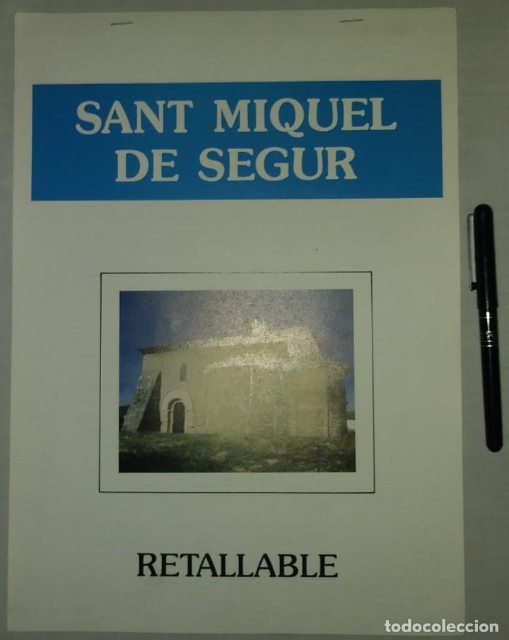 RETALLABLE DE L'ESGLESIA DE SANT MIQUEL DE SEGUR. FUNDACIO CASTELL DE CALAFELL.RECORTABLE (Coleccionismo - Recortables - Construcciones)