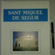 Coleccionismo Recortables: RETALLABLE DE L'ESGLESIA DE SANT MIQUEL DE SEGUR. FUNDACIO CASTELL DE CALAFELL.RECORTABLE. Lote 148631822