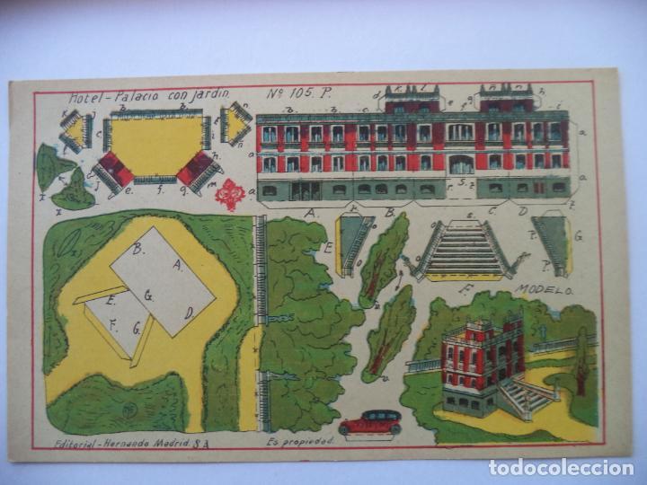 HERNANDO Nº 105 HOTEL -PALACIO CON JARDIN 26X16,5 CM (Coleccionismo - Recortables - Construcciones)