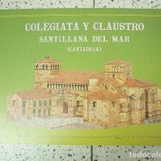Colecionismo Recortáveis: +MGRT+ RECORTABLE DE LA COLEGIATA Y CLAUSTRO DE SANTILLANA DEL MAR, CANTABRIA. Lote 151633694