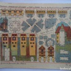 Coleccionismo Recortables: HERNANDO Nº 188 M TORRE DE SAN MARTIN EN FRIBURGO ALEMANIA.EDIFICIOS Y MONUMENTOS CELEBRES DE TODO E. Lote 151707562