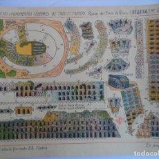 Coleccionismo Recortables: HERNANDO.Nº 184 RUINAS DEL CIRCO DE ROMA ITALIA.EDIFICIO Y MONUMENTOS CELEBRES DE TODO EL MUNDO. Lote 151709402