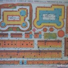 Coleccionismo Recortables: HERNANDO CASTILLO MANZANARES DEL REAL ESPAÑA 208 MEDIFICIOS Y MONUMENTOS CELEBRES DE TODO EL MUNDO. Lote 151957966