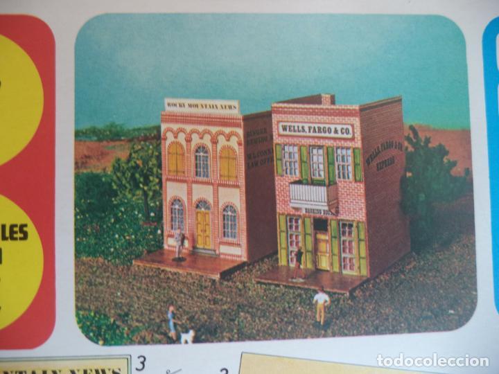 ROLLAN CANYON CITY Nº 7 2 HOJAS DE 33X23 CM BANCO IMPRENTA (Coleccionismo - Recortables - Construcciones)