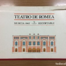 Coleccionismo Recortables: RECORTABLE MAQUETA TEATRO ROMEA MURCIA 1862. Lote 152367246
