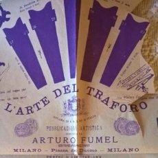 Coleccionismo Recortables: L´ARTE DEL TRAFORO. ARTURO FUMEL 1884. PORTA ZIGARI. TAV 140 SECONDA ENZIONE. PLANO PARA CALADO -. Lote 154179298