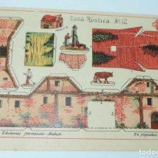 Coleccionismo Recortables: RECORTABLE EDITORIAL HERNANDO MADRID, Nº 12 CASA RUSTICA, MIDE 23,5 X 16 CMS., EXCELENTE ESTADO. Lote 154262082