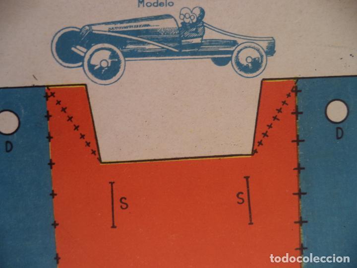 RECORTABLE BS AUTO DE CARRERAS MODELO 1937-I Nº 2 52X32,5 CM (Coleccionismo - Recortables - Construcciones)