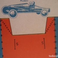 Coleccionismo Recortables: RECORTABLE BS AUTO DE CARRERAS MODELO 1937-I Nº 2 52X32,5 CM. Lote 154507506