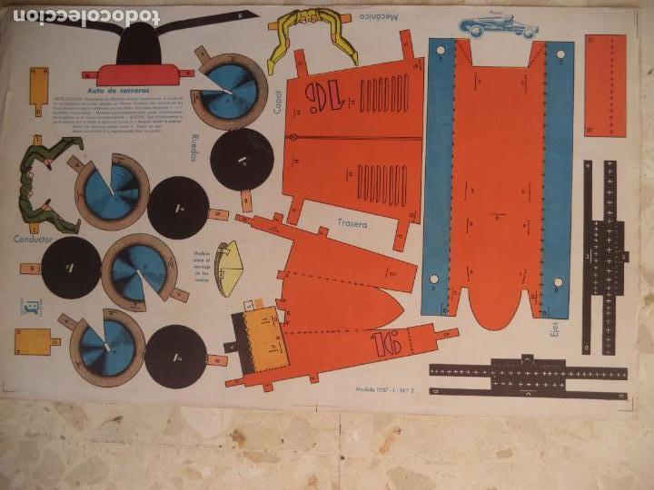 Coleccionismo Recortables: RECORTABLE BS AUTO DE CARRERAS MODELO 1937-I Nº 2 52X32,5 CM - Foto 2 - 154507506