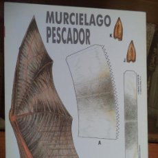 Coleccionismo Recortables: MURCIELAGO PESCADOR 4 PAGINAS 29X20,5 CM. Lote 155611510