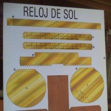 Coleccionismo Recortables: RELOJ DE SOL 4 PAGINAS 29X20,5 CM. Lote 155611830
