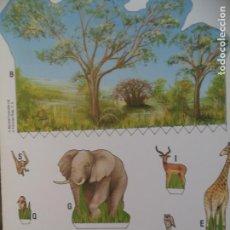 Coleccionismo Recortables: POZA EN LA SABANA 4 PAGINAS 29X20,5 CM. Lote 155638390