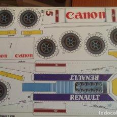 Coleccionismo Recortables: WILLIANS RENAULT V10 4 PAGINAS DE 29X20,5 CM. Lote 155639198